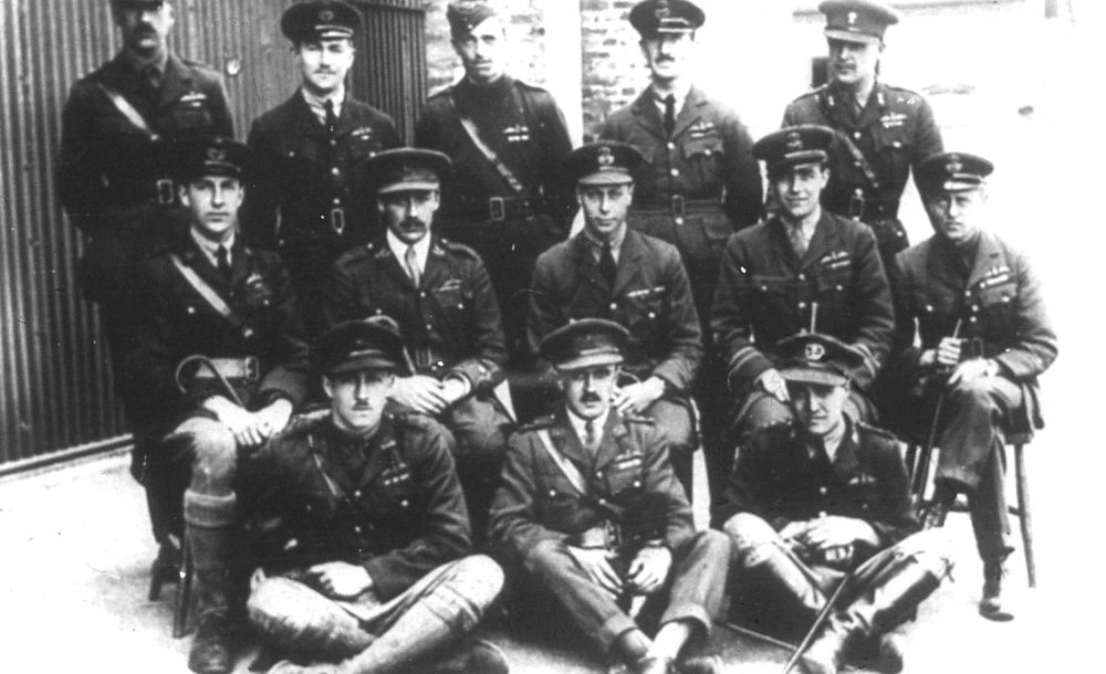 Posed shot of 13 RAF Officers including Prince Albert